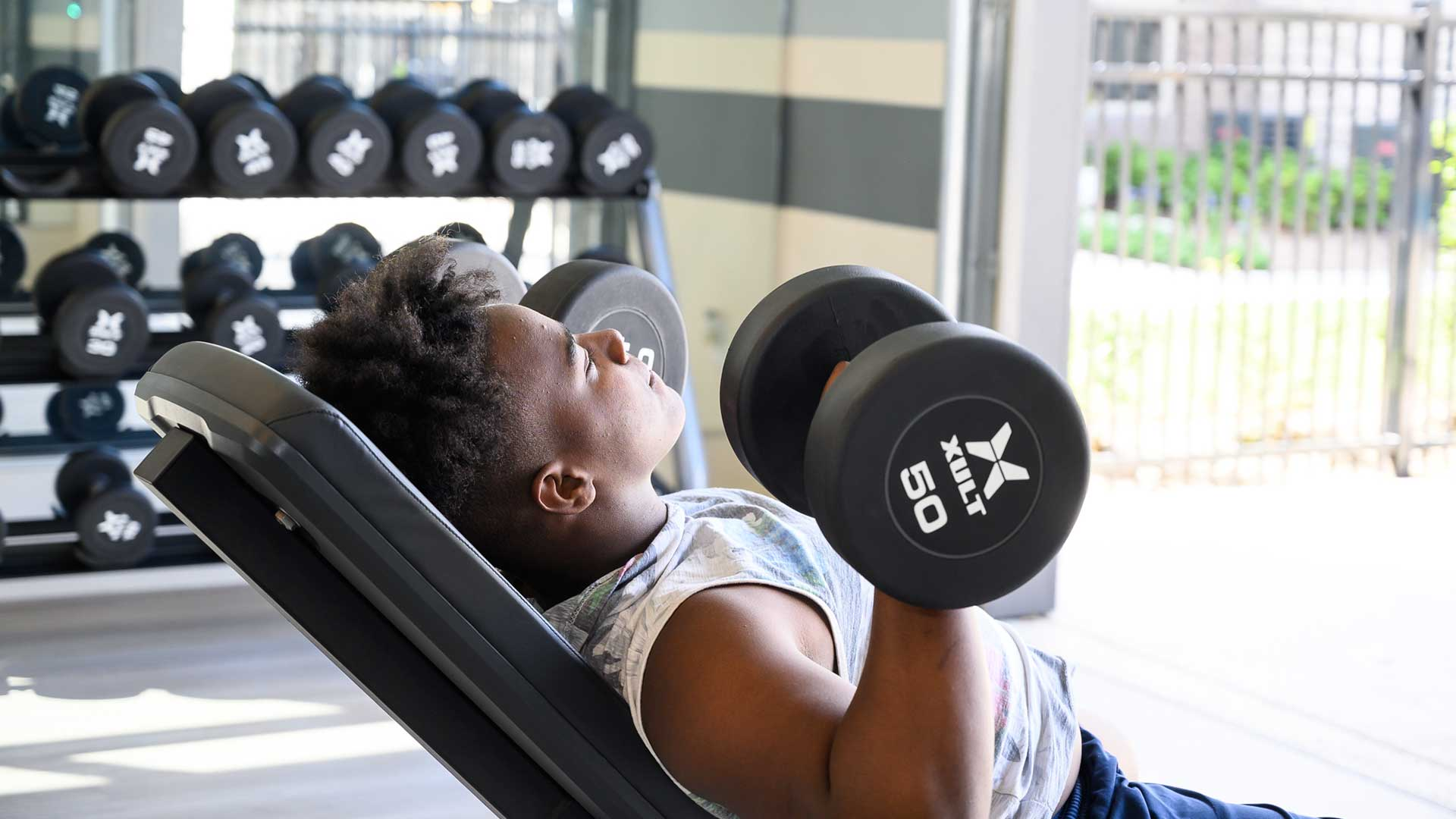 Free Weights at Springs at Lakeline Apartments